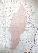 The fire map of the River Fire, which started Wednesday Aug. 4, shows the 2.600 acre footprint which straddles the Nevada County and Placer County borders, Aug. 7, 2021. (Elias Funez/The Union via AP)
