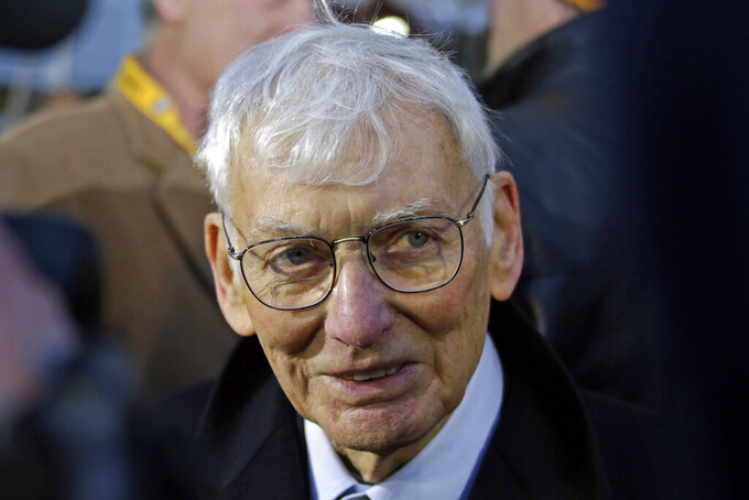 "File-This Dec. 22, 2012, file photo shows Pittsburgh Steelers chairman emeritus Dan Rooney attending the unveiling of a marker commemorating the 40th anniversary of the ""Immaculate Reception"" at the sight of the catch on the Northside of Pittsburgh. In 2003, the NFL had three minority head coaches: future Pro Football Hall of Famer Tony Dungy, Herman Edwards and Marvin Lewis. In the 12 previous seasons, there had been six. Total. Considering that the majority of the players in the league 16 years ago were minorities, that imbalance was enormous. And disturbing. And, frankly, it was unfair. Paul Tagliabue, then the NFL commissioner, put together a committee that established the ""Rooney Rule,"" which requires all teams with coaching and front office vacancies to interview minority candidates. The rule, long overdue, was named for Rooney, then president of the Pittsburgh Steelers and the overseer of that committee. (AP Photo/Gene J. Puskar, File)"