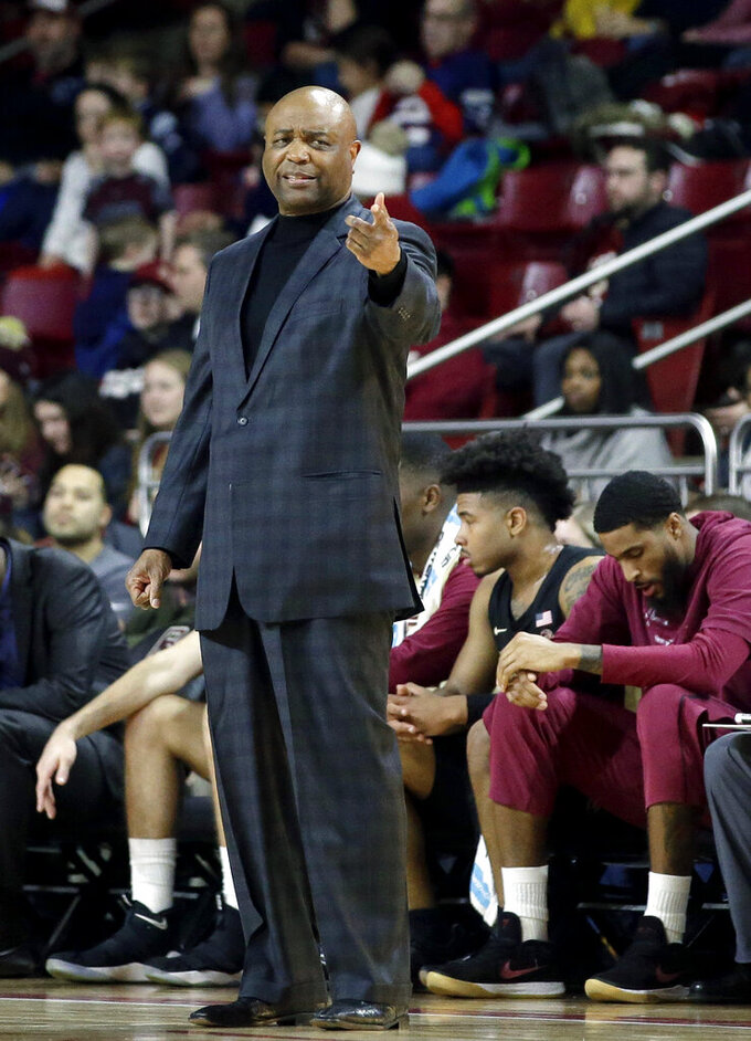 Florida State head coach Leonard Hamilton gestures from the sideline in the second half of an NCAA college basketball game against Boston College, Sunday, Jan. 20, 2019, in Boston. (AP Photo/Steven Senne)