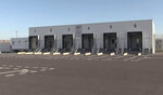 The newly built examination block that is part of the new facilities constructed prior to Britain's Brexit split with Europe, during a visit by British minister in charge of preparations for a no-deal Brexit, Michael Gove at the Calais port, in Calais, northern France, Friday Aug. 30, 2019. Calais is a key point of passage across the English Channel for migrants, tourists and trucks carrying merchandise to Britain. (TV Pool via AP)