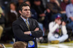Georgia Tech coach Josh Pastner watches his team during the first half of an NCAA college basketball game against Pittsburgh on Wednesday, Feb. 20, 2019, in Atlanta. (AP Photo/Danny Karnik)