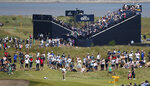 Northern Ireland's Rory McIlroy putts on the 9th green during the final round of the British Open Golf Championship at Royal St George's golf course Sandwich, England, Sunday, July 18, 2021. (AP Photo/Peter Morrison)