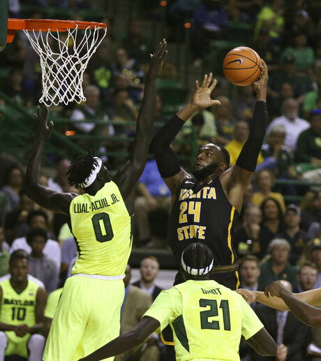 Shaquille Morris, Baylor forward Jo Lual-Acuil Jr.