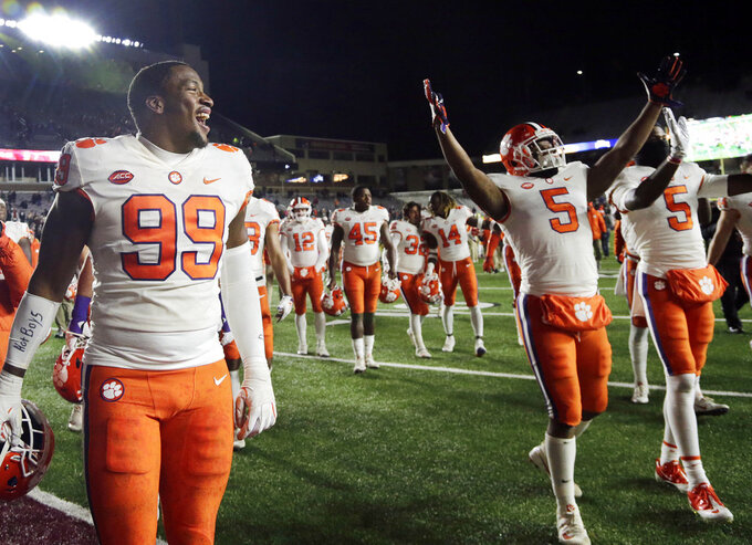 Seniors, No. 2 Clemson seeking more milestones against Duke