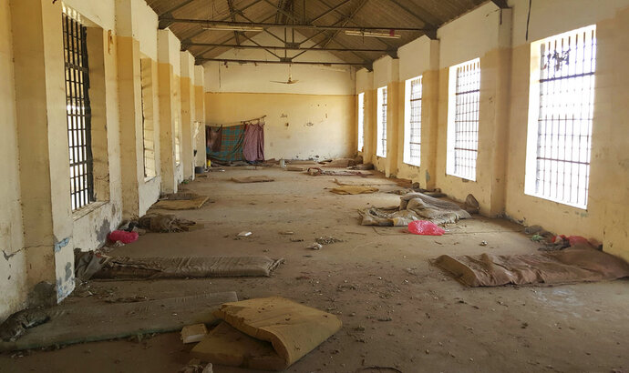 FILE - In this May 9, 2017 photo, shows a deserted cell in the public section of Aden Central Prison is shown in in Aden, Yemen. A separate, closed wing is run by Yemeni allies of the United Arab Emirates, part of a network of secret prisons in southern Yemen. In a report released Thursday, July 12, 2018, Amnesty International called for an investigation into alleged disappearances, torture and likely deaths in detention facilities in southern Yemen as possible war crimes. (AP Photo/Maad El Zikry, File)