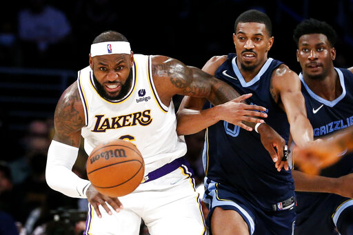 Grizzlies Lakers Basketball