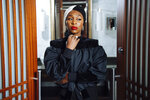This Sept, 10, 2019 photo shows actress Cynthia Erivo posing for a portrait at the Shangri-La Hotel to promote the film