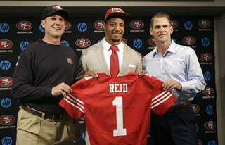 Eric Reid, Trent Baalke, Jim Harbaugh