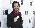 Thomas Rhett arrives at 67th Annual BMI Country Awards ceremony at BMI Music Row offices on Tuesday, Nov. 12, 2019, in Nashville, Tenn. (Photo by Al Wagner/Invision/AP)