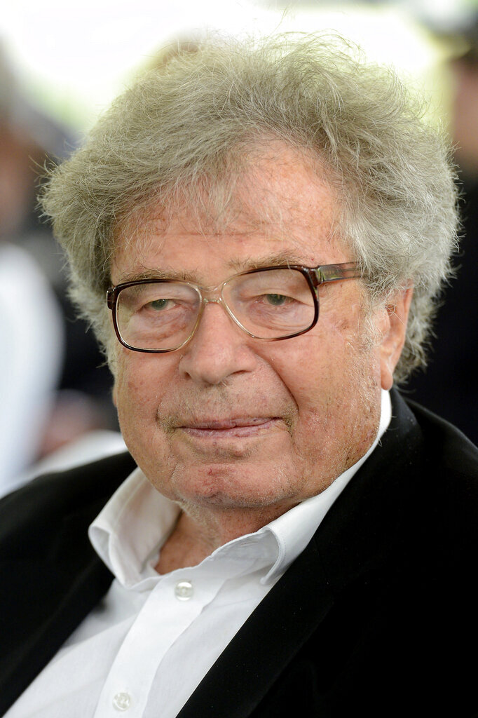 FILE - In this Sept. 9, 2017 file picture Hungarian writer, sociologist Gyorgy Konrad attends the funeral of Hungarian film director Karoly Makk in Budapest. Gyorgy Konrad died on Friday, Sept 13, 2019 at the age of 86. (Lajos Soos/MTI via AP)