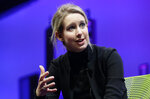 FILE - In this Nov. 2, 2015, file photo, Elizabeth Holmes, founder and CEO of Theranos, speaks at the Fortune Global Forum in San Francisco. Former U.S. Secretary of Defense James Mattis testified Wednesday, Sept. 22, 2021, in the trial of fallen tech star Holmes, saying the entrepreneur misled him into believing she was on the verge of rolling out a blood-testing breakthrough that he hoped would help save lives of troops in battle. (AP Photo/Jeff Chiu, File)