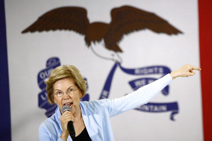 Democratic presidential candidate Sen. Elizabeth Warren, D-Mass., speaks during a campaign event, Monday, Jan. 20, 2020, in Grimes, Iowa. (AP Photo/Patrick Semansky)