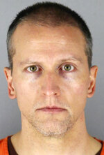 FILE - This undated photo provided by the Hennepin County, Minn., Sheriff's Office shows former Minneapolis police officer Derek Chauvin. As the trial approaches for Chauvin, charged with murder in George Floyd's death, prosecutors are putting the time Chauvin's knee was on Floyd's neck at about nine minutes. (Hennepin County Sheriff's Office via AP File)
