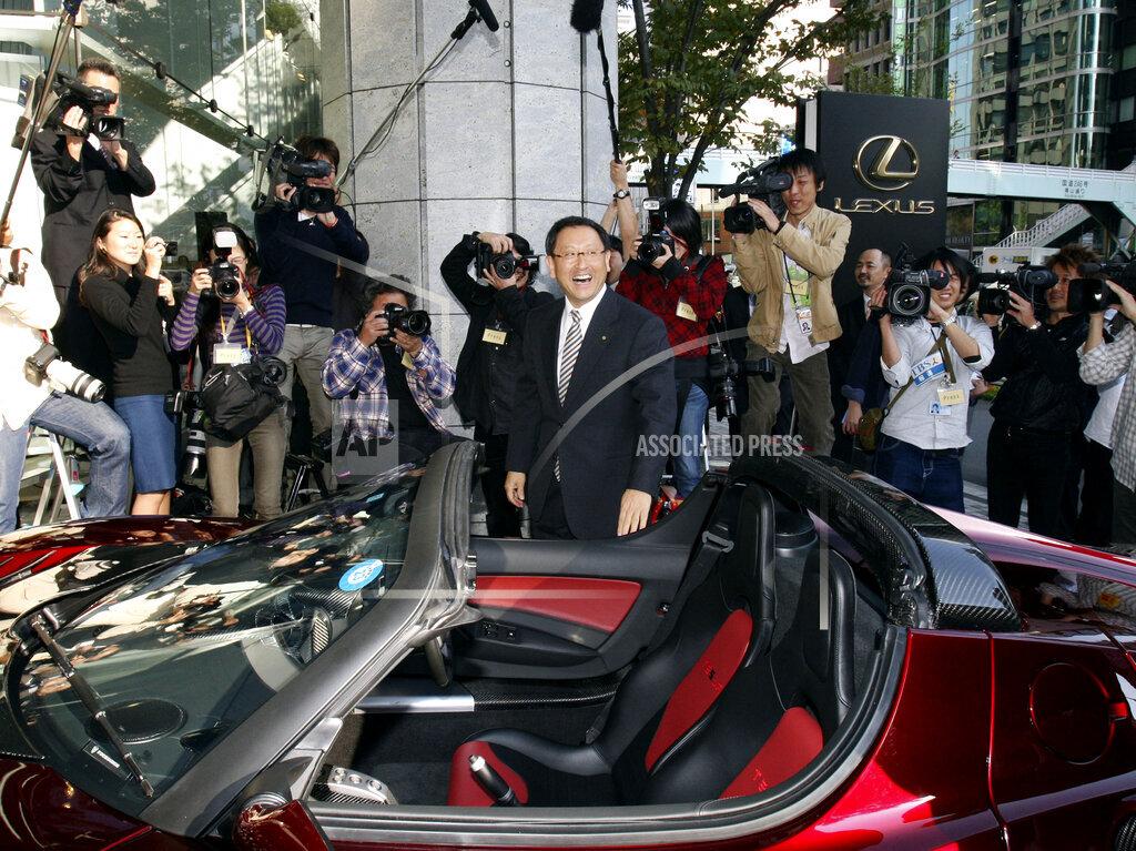 APTOPIX Japan Toyota Tesla