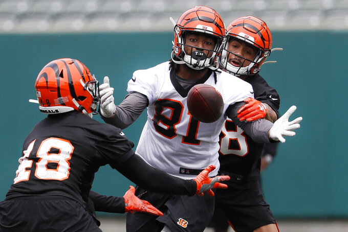 Bengals' top pick Williams is injured, watching minicamp