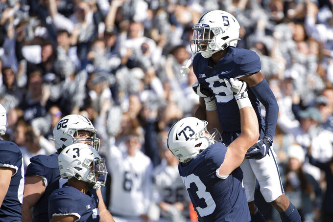 No. 10 Penn State kicks off tough stretch at No. 17 Iowa