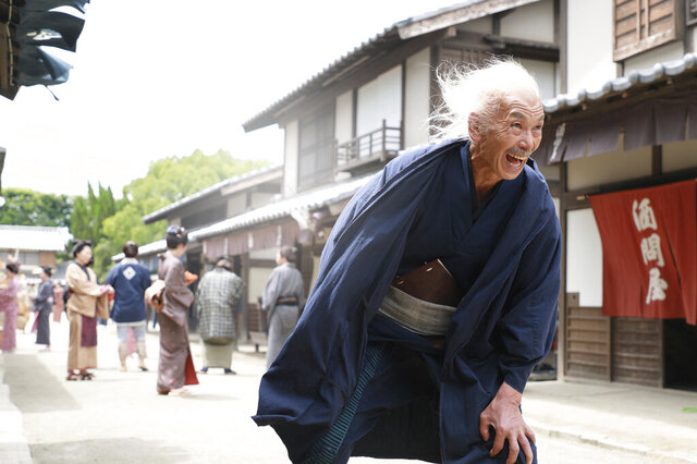 In this photo provided by 2020 HOKUSAI MOVIE, actor Min Tanaka performs in a scene from