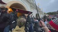 Police Fire Tear Gas to Disperse Violent Pro-Trump Protesters at US Capitol