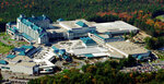 This is an undated aerial view of the Foxwoods Resort Casino on the Mashantucket Pequot Indian Reservation in Ledyard, Conn. The shutdown of the Foxwoods and Mohegan Sun casinos for the pandemic has contributed to soaring unemployment in eastern Connecticut, a region that has seen some of the biggest spikes in jobless numbers despite relatively few infections. (AP Photo/Bob Child, File)