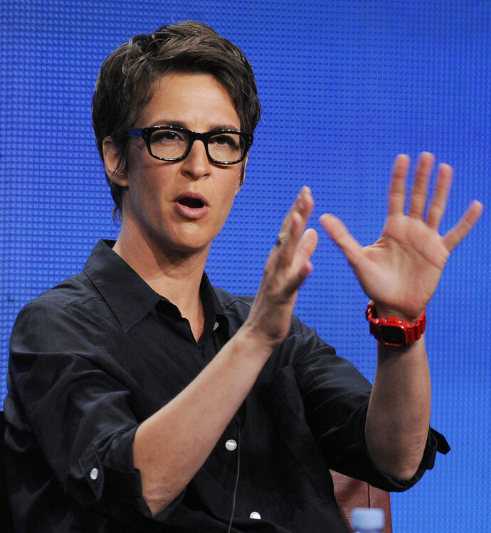 File-This Aug. 2, 2011, file photo shows Rachel Maddow, host of