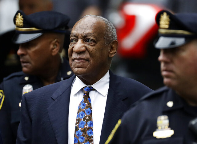 FILE - In this Sept. 24, 2018 file photo, Bill Cosby arrives for his sentencing hearing at the Montgomery County Courthouse, in Norristown, Pa. Cosby has appealed a court decision last month that upheld his conviction for drugging and sexually assaulting a woman at his home. He filed his latest appeal Thursday, Jan. 9, 2020, with the Pennsylvania Supreme Court, which does not have to take the case. Cosby is serving a three- to 10-year prison term at a maximum-security state prison in Pennsylvania. (AP Photo/Matt Slocum, File)