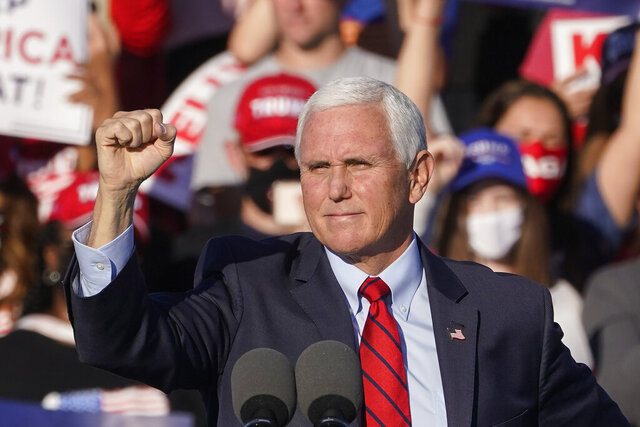Vice President Mike Pence speaks during a