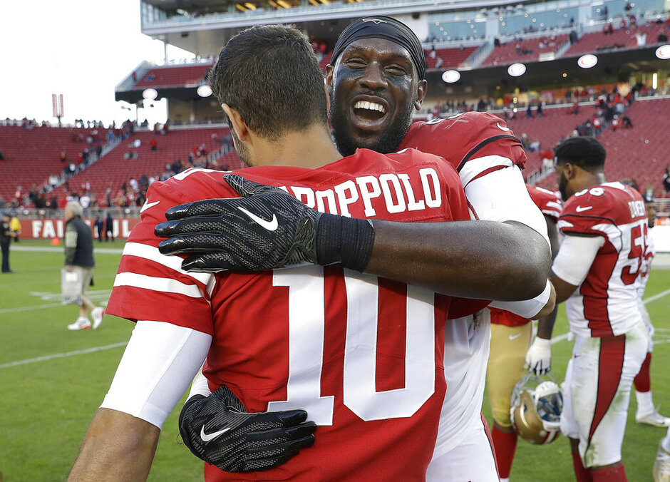 Jimmy Garoppolo, Chandler Jones