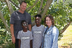 The Porter family is pictured outside their church Friday, June 12, 2020, in Newcastle, Okla. From left are Matt, Paul, Timothy and Julie. The family lives in a small, mostly white town. (AP Photo/Sue Ogrocki)