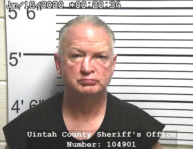 This Thursday, Jan. 16, 2020 booking photo provided by the Uintah County, Utah, Sheriff's Office shows Gregory Kehl. Utah authorities say Kehl, 64, a sex offender recently released from an Iowa prison, sexually assaulted a female passenger on a Greyhound bus. Kehl was arrested Wednesday night, Jan. 15, 2020 in the small northeastern Utah city of Vernal, after the bus driver stopped the bus at a restaurant and reported the alleged assault to a restaurant manager. The alleged victim told police she moved away from the man during the trip but he followed her inside the bus, exposed himself and sexually assaulted her. (Uintah County Sheriff's Office via AP)