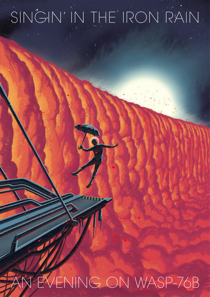 This image made available by the European Southern Observatory in March 2020 shows an illustration by graphic novelist Frederik Peeters titled