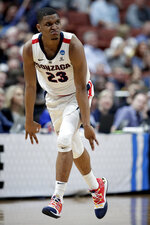 Gonzaga guard Zach Norvell Jr. celebrates after scoring against Florida State during the second half an NCAA men's college basketball tournament West Region semifinal Thursday, March 28, 2019, in Anaheim, Calif. (AP Photo/Jae C. Hong)