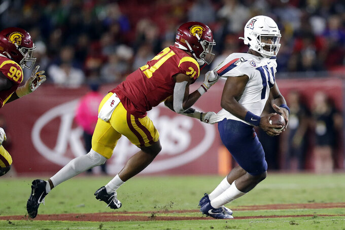 Kedon Slovis and USC defense lead 41-14 win over Arizona