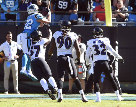 APTOPIX Ravens Panthers Football