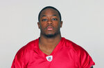 FILE - This is a 2009 file photo showing Atlanta Falcons NFL football player Thomas Brown. South Carolina coach Will Muschamp has struggled to build a running game. He's turning to one of Georgia's top 10 all-time rushers to turn that around. Muschamp brought in former Bulldogs star and assistant coach in Thomas Brown to lead Gamecocks running backs this season, hopeful he can turn an area that's been near the bottom of the Southeastern Conference the past three years into one that vaults the Gamecocks into contention in the Eastern Division.  (AP Photo/File)