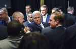 Vice President Mike Pence greets Immigration and Customs Enforcement employees after he spoke at Homeland Security Investigation Principal Field Offices in Atlanta on Thursday, March 21, 2019. (Hyosub Shin/Atlanta Journal-Constitution via AP, Pool)