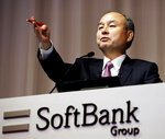 FILE - In this Nov. 6, 2019, file photo, SoftBank founder and Chief Executive Officer Masayoshi Son speaks during a news conference in Tokyo. Son, the chief executive of Japanese technology company SoftBank Group Corp. said Thursday, June 25, 2020, that he is stepping down from the board of Chinese e-commerce giant Alibaba. (Kyodo News via AP, File)