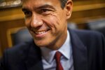 Spain's caretaker Prime Minister Pedro Sánchez smiles during the parliamentary debate at the Spanish parliament in Madrid, Spain, Monday, July 22, 2019. Sánchez will seek the endorsement of the Spanish Parliament on Monday ahead of this week's confidence votes for him to form a new government. (AP Photo/Bernat Armangue)