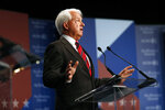 Republican John Cox answers a question during a debate between candidates for the upcoming California recall election, held by KCRA 3 and the San Francisco Chronicle in Sacramento, Calif., on Wednesday, Aug. 25, 2021. (Scott Strazzante/San Francisco Chronicle via AP, Pool)