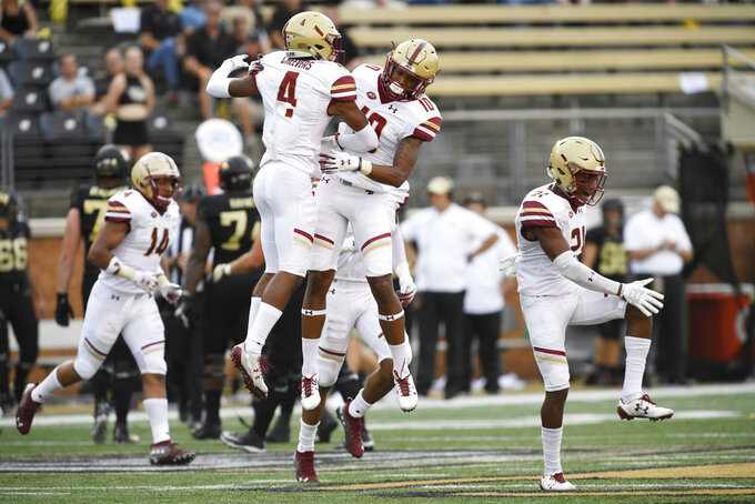 Brown throws 5 TDs, BC beats Wake Forest, 41-34