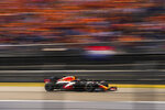 Red Bull driver Max Verstappen of the Netherlands steers his car during the Formula One Dutch Grand Prix auto race, at the Zandvoort racetrack, Netherlands, Sunday, Sept. 5, 2021. (AP Photo/Francisco Seco)