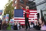 Democratic presidential candidate Sen. Elizabeth Warren, D-Mass., addresses a campaign rally at George Mason University in Fairfax, Va., Thursday, May 16, 2019. (AP Photo/Cliff Owen)