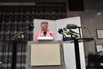 Vice chief prosecutor Eva-Britt speaks at a press conference in Stockholm, Sweden, Monday May 13, 2019. Swedish prosecutors are to reopen rape case against WikiLeaks founder Julian Assange, a month after he was removed from the Ecuadorian Embassy in London. (Anders Wiklund/TT News Agency via AP)