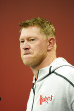 Nebraska coach Scott Frost takes a question during a news conference Tuesday, March 5, 2019, in Lincoln, Neb., ahead of spring NCAA college football practice. (AP Photo/Nati Harnik)