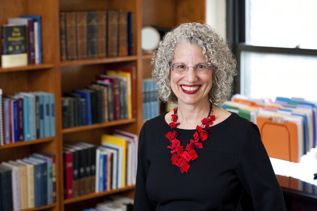 This 2020 photo provided by Ellen Dubin Photography shows Dr. Shuly Rubin Schwartz in New York. On Monday, the Jewish Theological Seminary announced Schwartz as their eighth chancellor - and first woman to serve in the role - in its 134-year history. (Ellen Dubin Photography via AP)