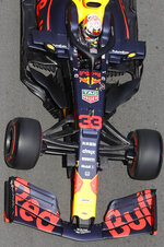 Red Bull's Max Verstappen of the Netherlands steers his car during the first free practice at the Baku Formula One city circuit, in Baku, Azerbaijan, Friday, April 26, 2019. The Formula One race will be held on Sunday. (AP Photo/Sergei Grits)