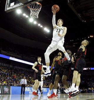 NCAA Houston Michigan Basketball