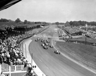 Indy 500 1950 Countdown Race 34 Auto Racing