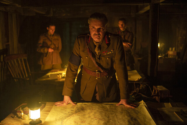 This image released by Universal Pictures shows Colin Firth as General Erinmore in a scene from