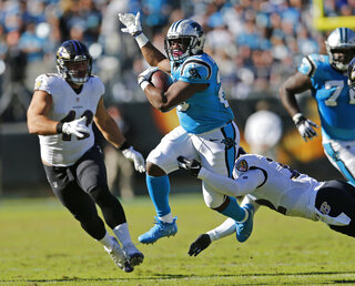 Panthers-Running Backs Football