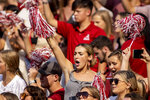 Alabama fans cheer during the first half of an NCAA college football game against Mercer, Saturday, Sept. 11, 2021, in Tuscaloosa, Ala. (AP Photo/Vasha Hunt)